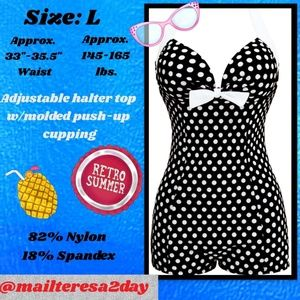 Other - 💖1950's Vintage Inspired 1-Piece Romper Swimsuit